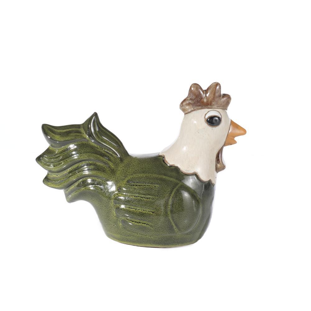 Medium Ceramic Meadow Green Hen. Picture 1