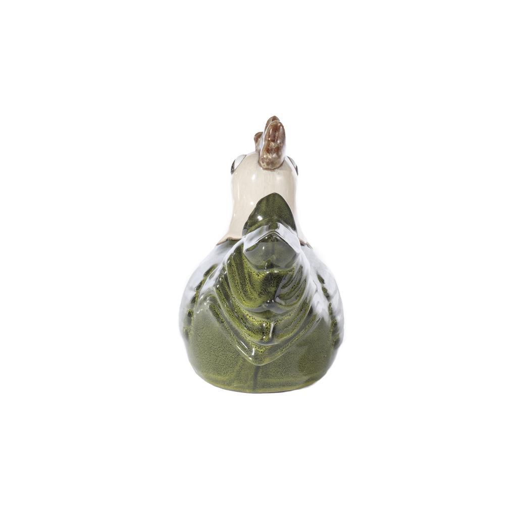 Medium Ceramic Meadow Green Hen. Picture 2