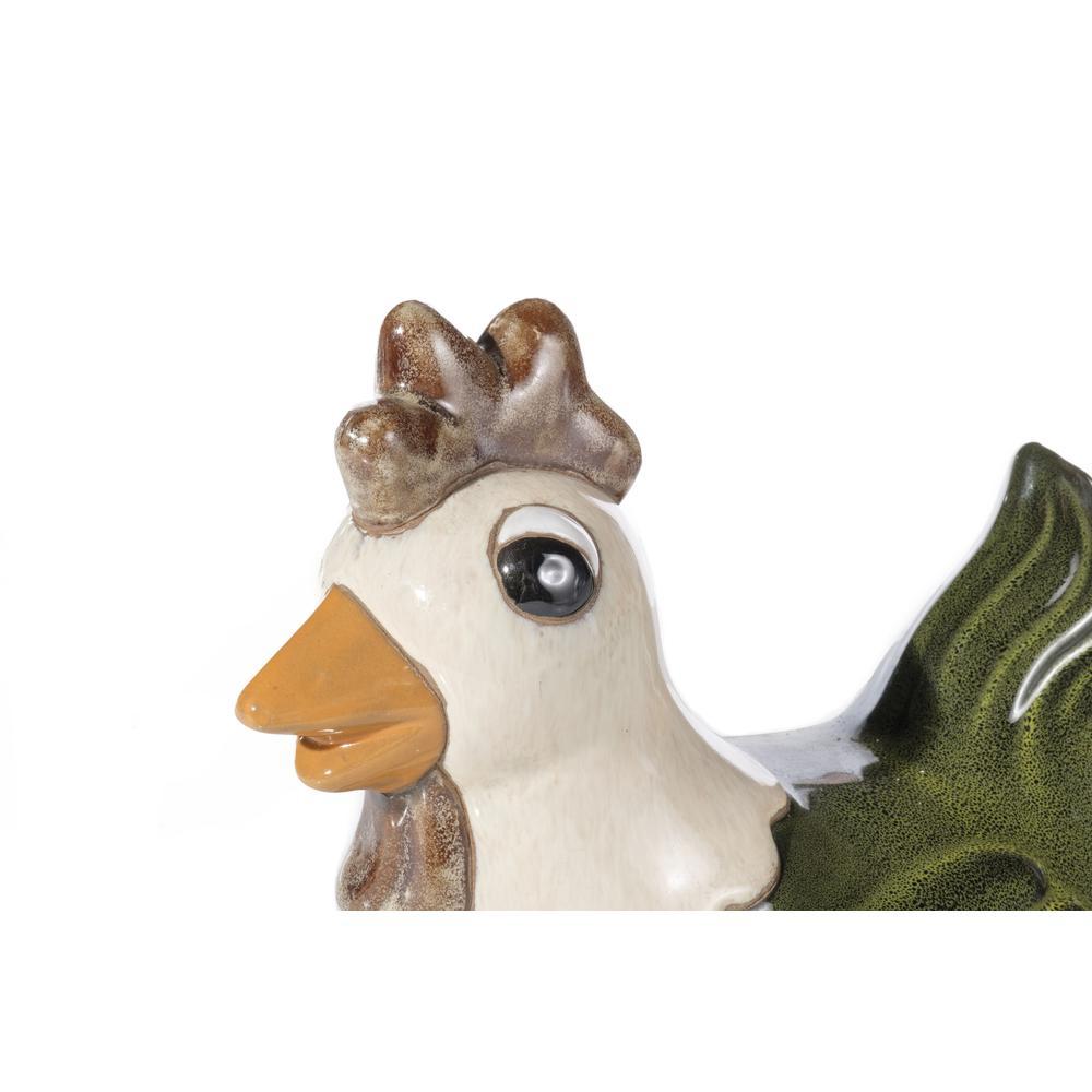 Medium Ceramic Meadow Green Hen. Picture 3