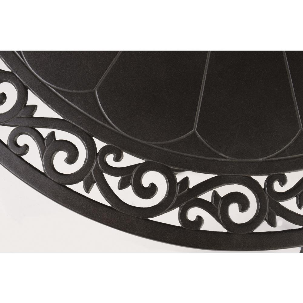 "Bellagio 48"" Round Cast Aluminum Gas Fire Pit/Chat Table with Glacier Ice Firebeads. Picture 3"