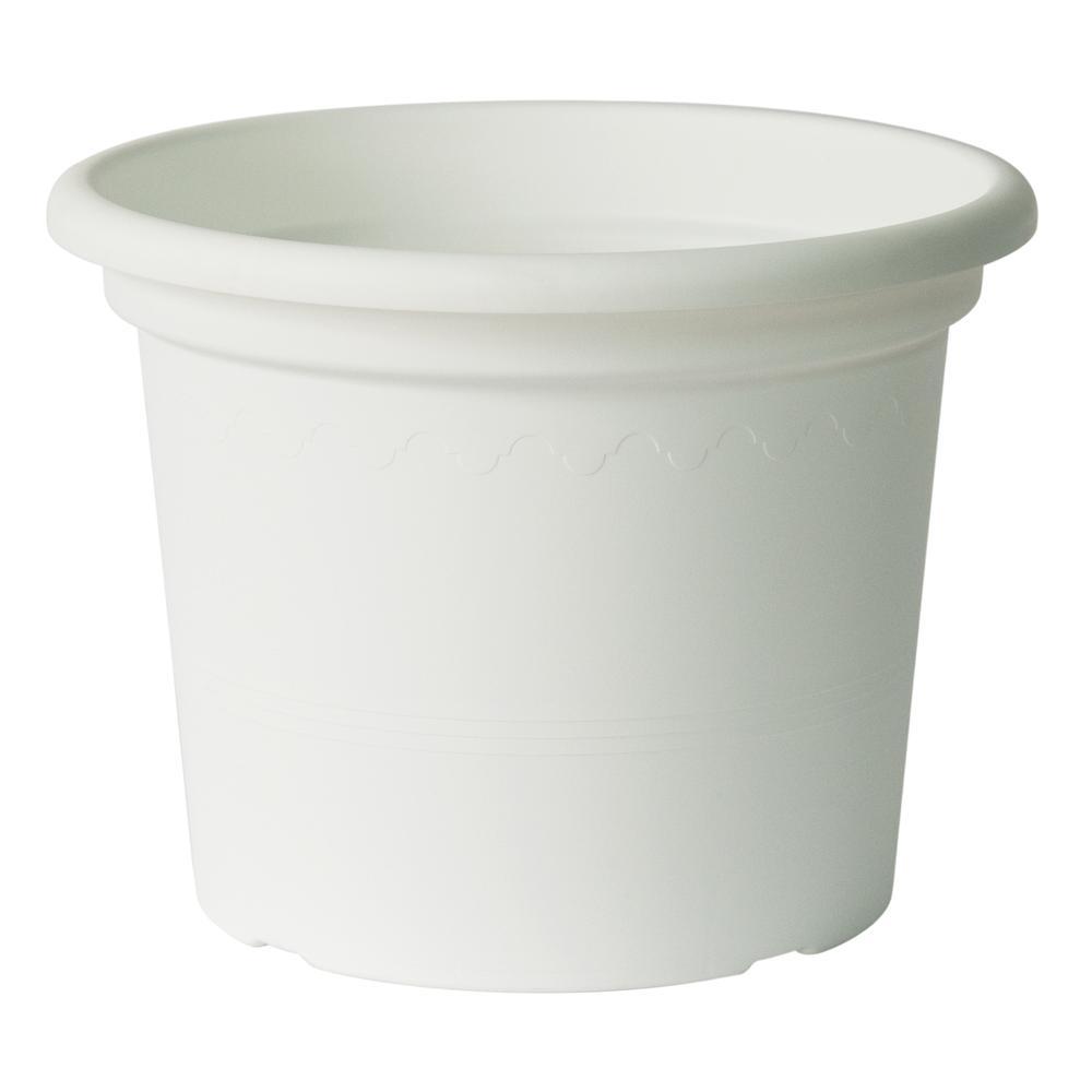 "15.75"" Geo Planter in Shiny White. Picture 6"
