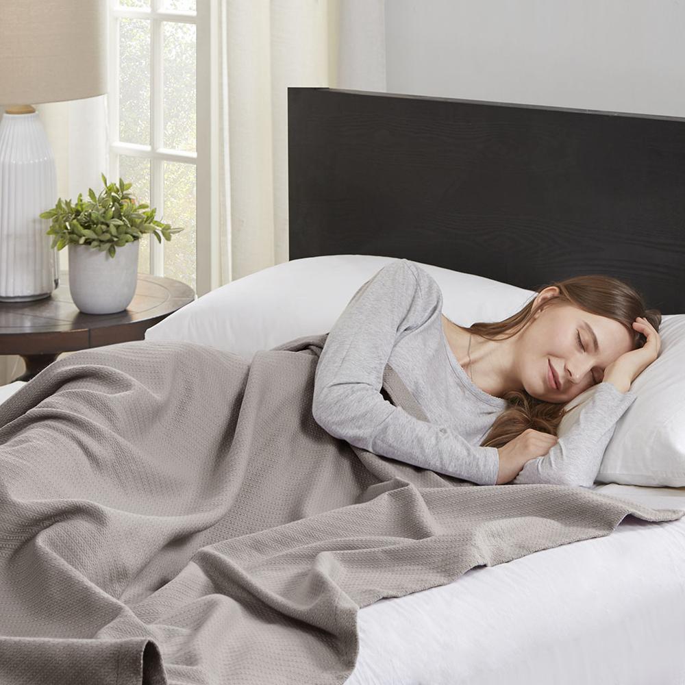 "100% Cotton Blanket w/ 1"" Self Hem,BL51N-0679. Picture 2"