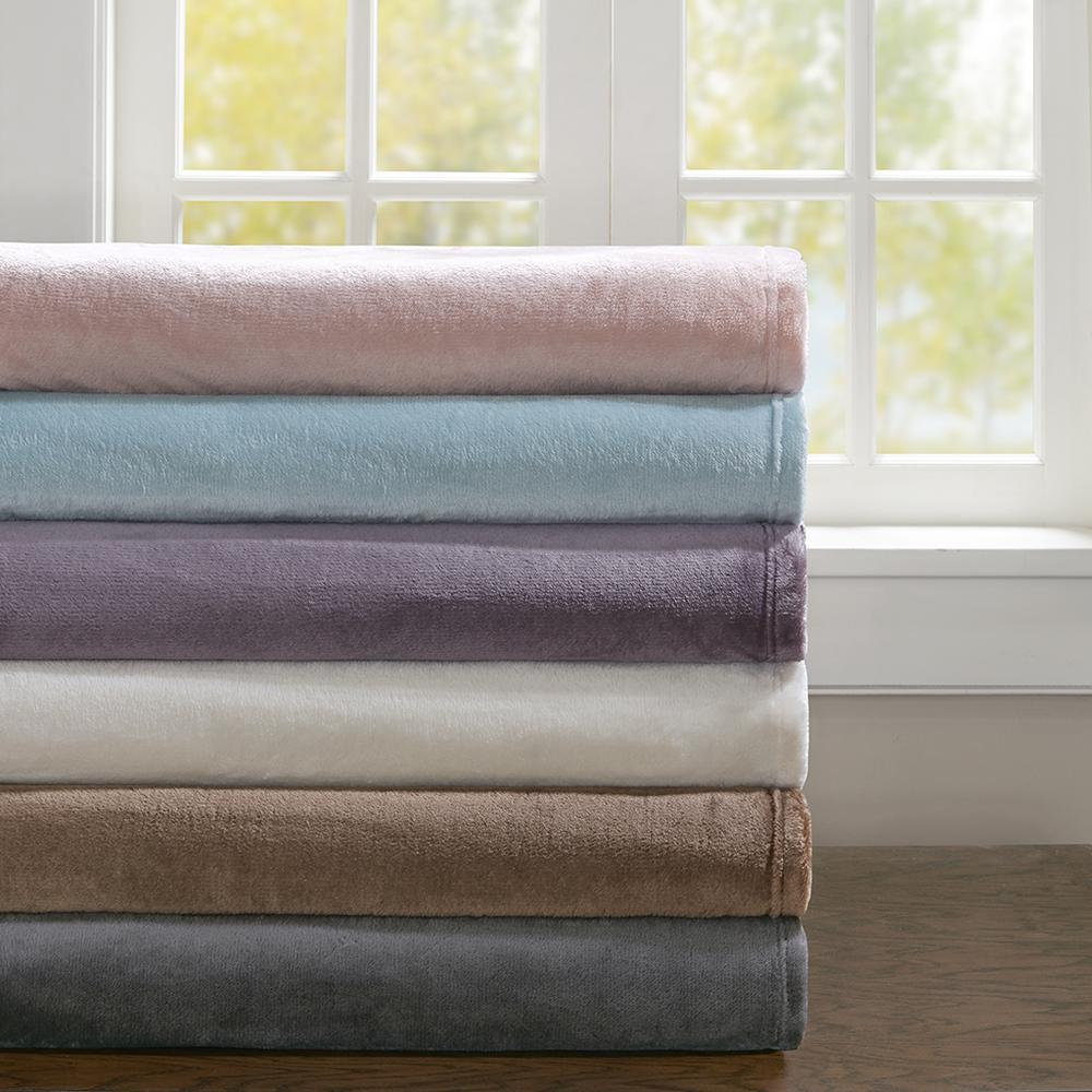 "100% Polyester Microlight Blanket W/ 1"" Self Hem,BL51-0616. Picture 15"