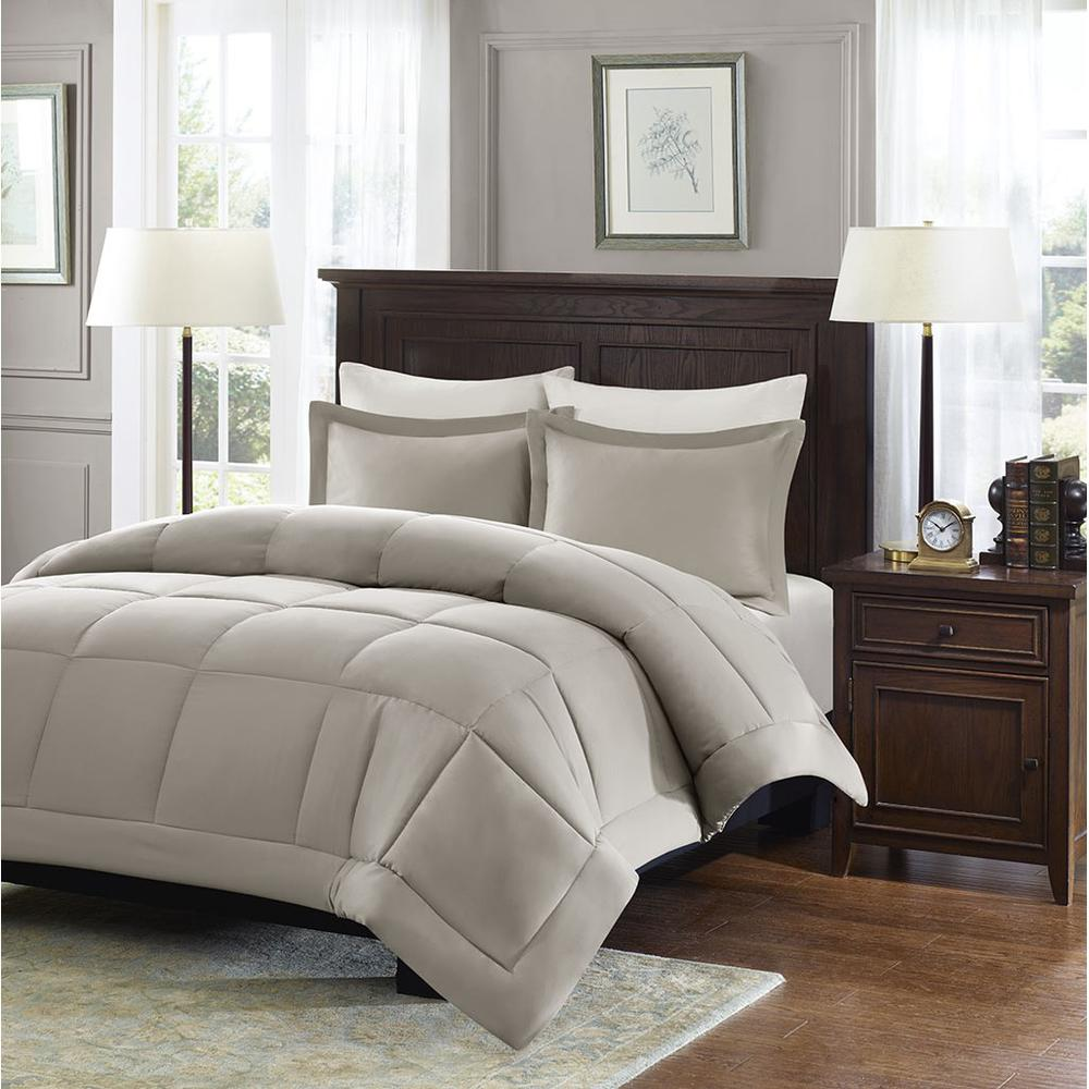 100% Polyester Microcell Down Alternative Comforter Mini Set with 3M Moisture Treatment,,MP10-1259. Picture 2
