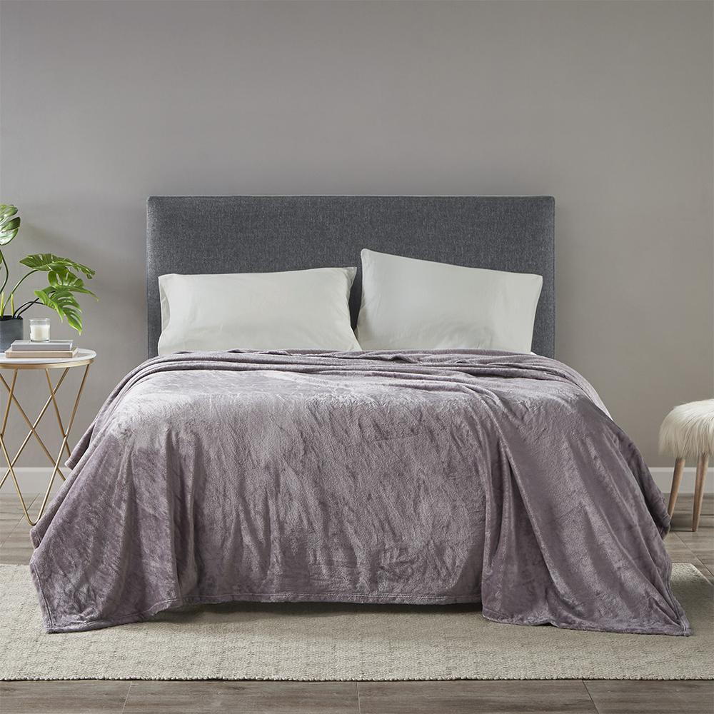"100% Polyester Microlight Blanket W/ 1"" Self Hem,BL51-0623. Picture 2"
