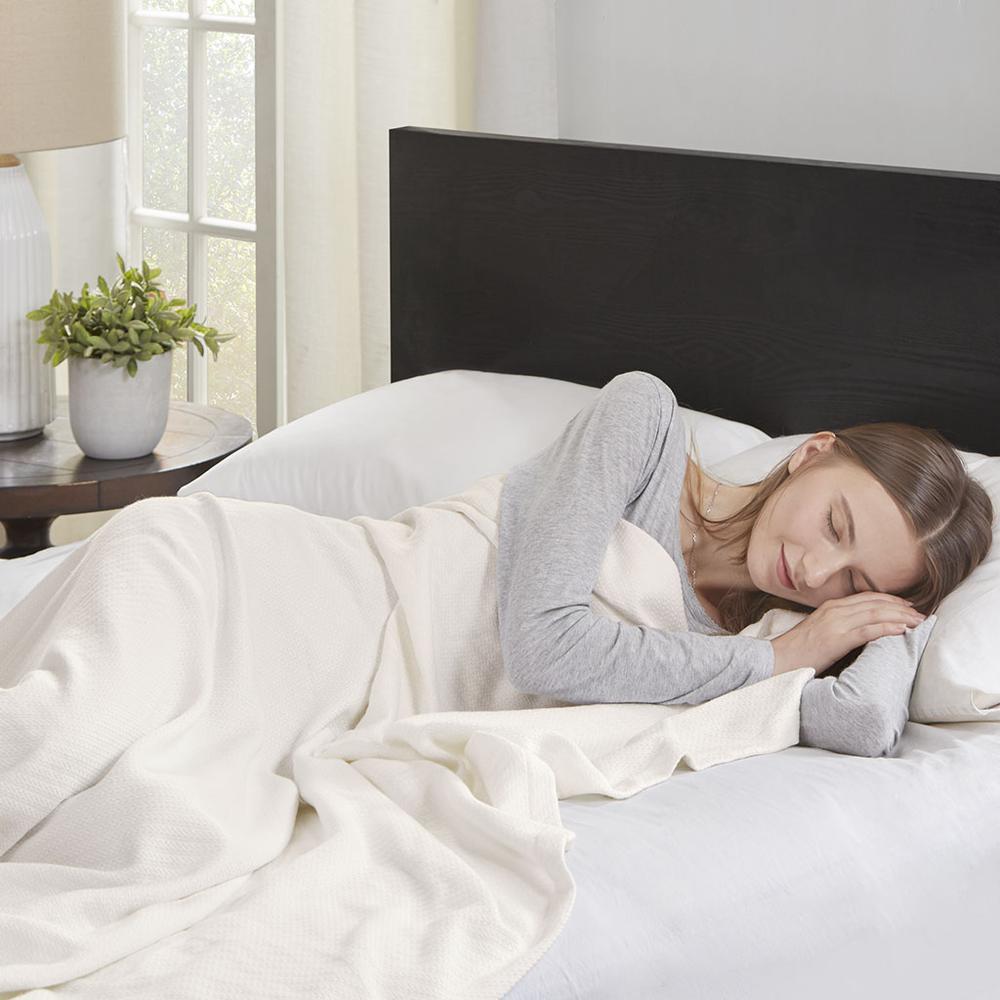 "100% Cotton Blanket w/ 1"" Self Hem,BL51N-0734. Picture 2"