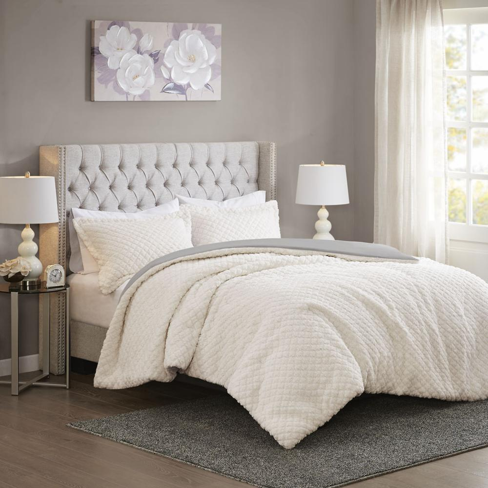 100% Polyester Pinsonic Sherpa Comforter Set,MP10-6627. Picture 2