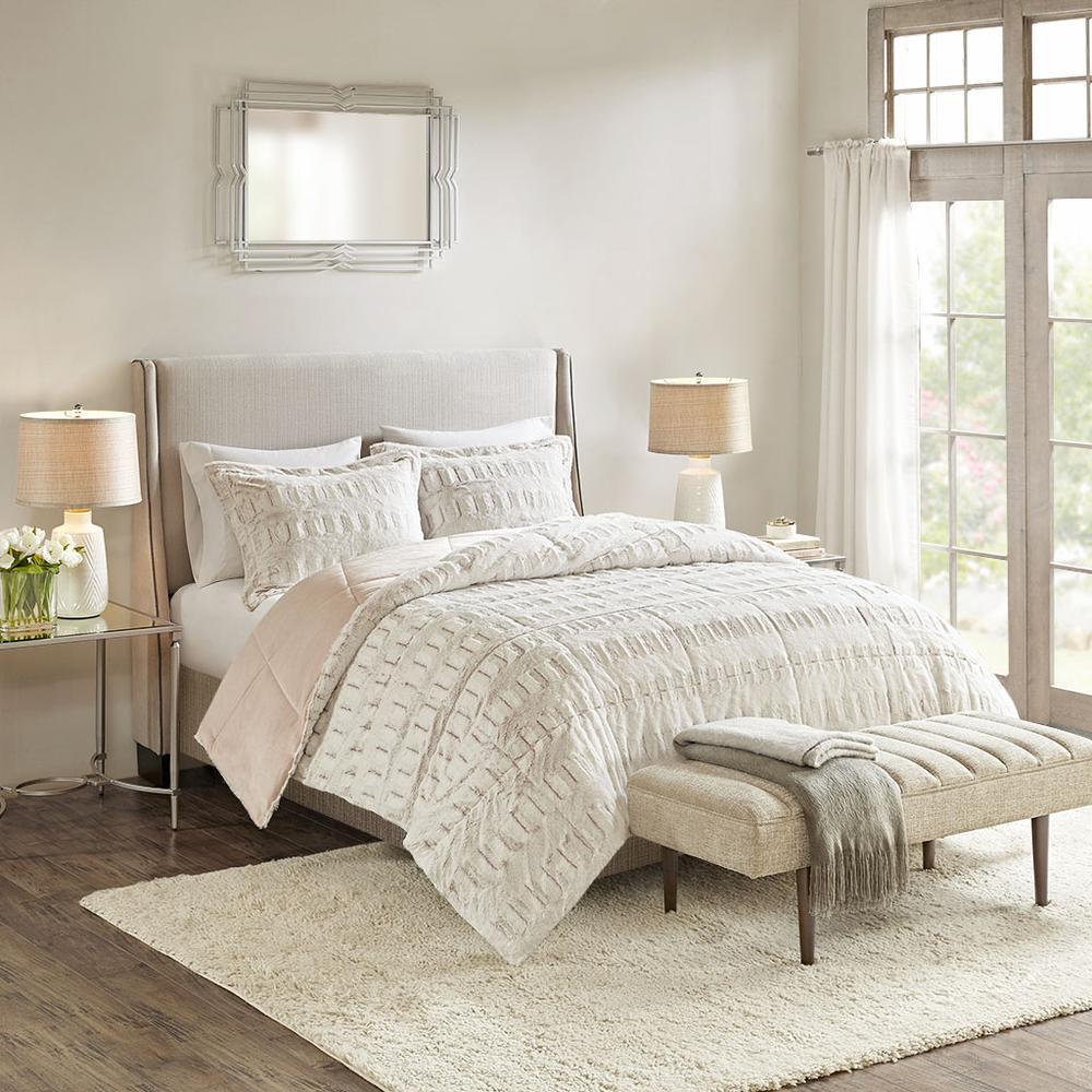 100% Polyester Back Print Long Fur Comforter Set,MP10-6210. Picture 2