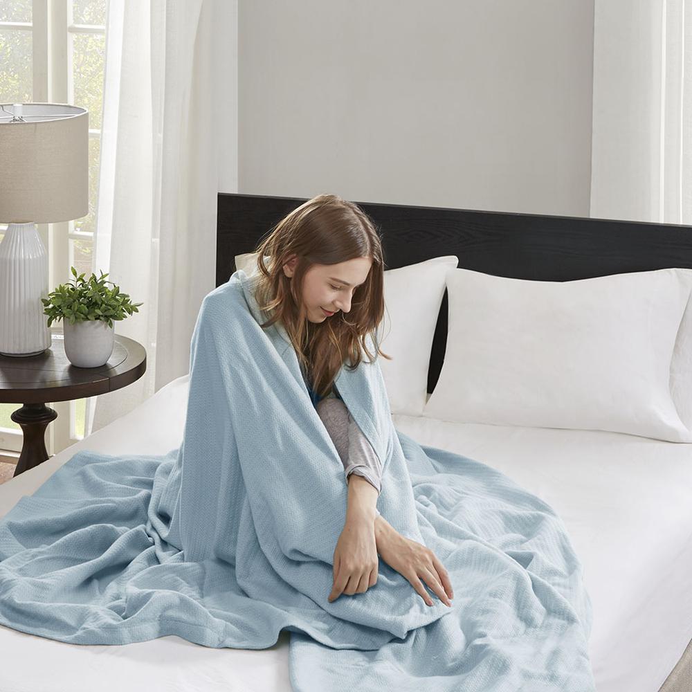 "100% Cotton Blanket w/ 1"" Self Hem,BL51N-0609. Picture 2"