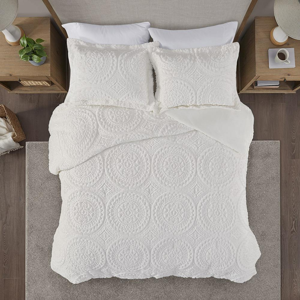 100% Polyester Embroidered Medallion Long Fur to Mink Comforter Set,MP10-5057. Picture 5