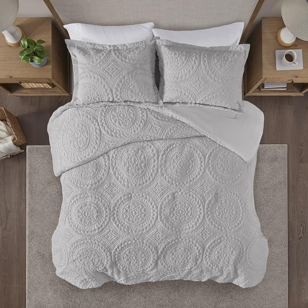 100% Polyester Embroidered Medallion Long Fur to Mink Comforter Set,MP10-6012. Picture 5