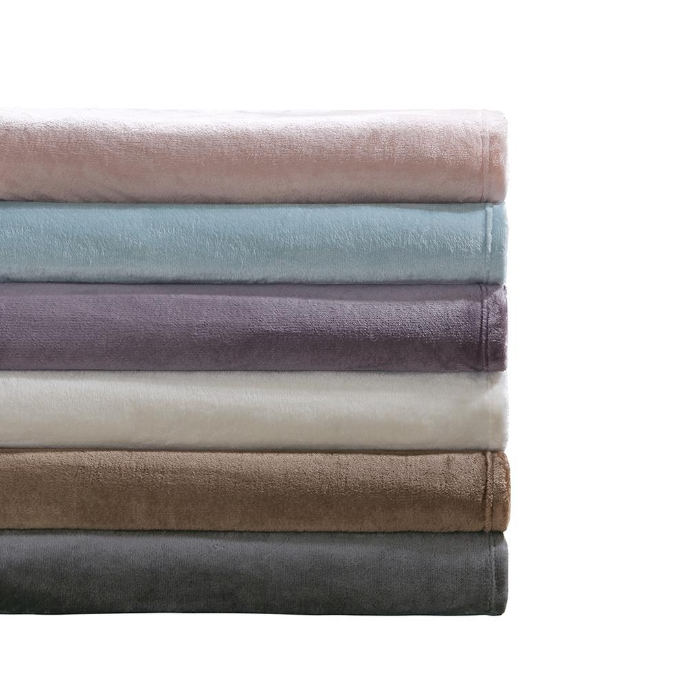 "100% Polyester Microlight Blanket W/ 1"" Self Hem,BL51-0618. Picture 3"