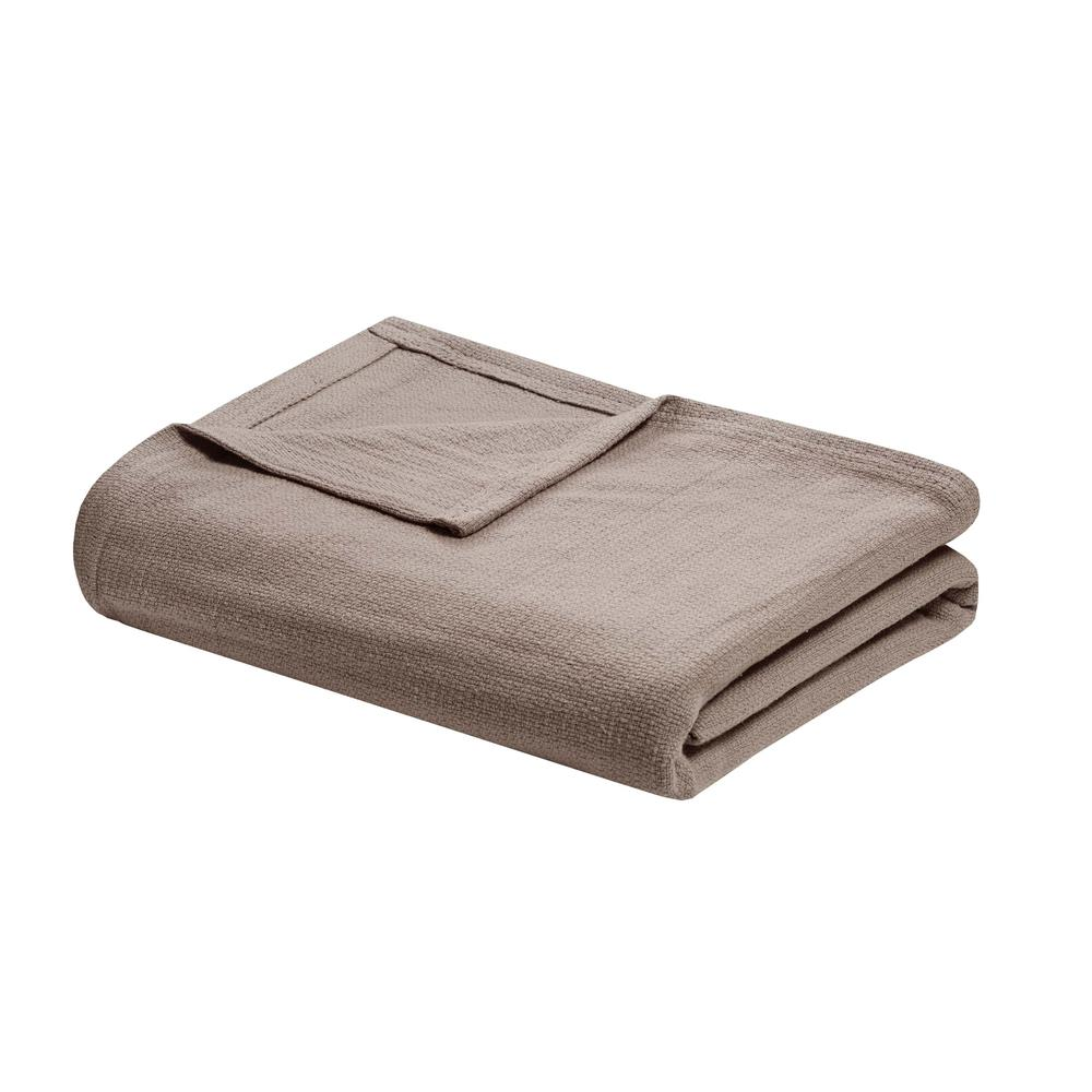 """100% Cotton Freshspun Basketweave Blanket w/ 1"""" Self Hem,BL51N-0861. Picture 3"""