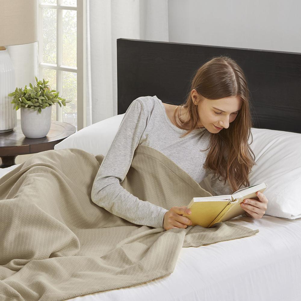 "100% Cotton Blanket w/ 1"" Self Hem,BL51N-0676. Picture 2"