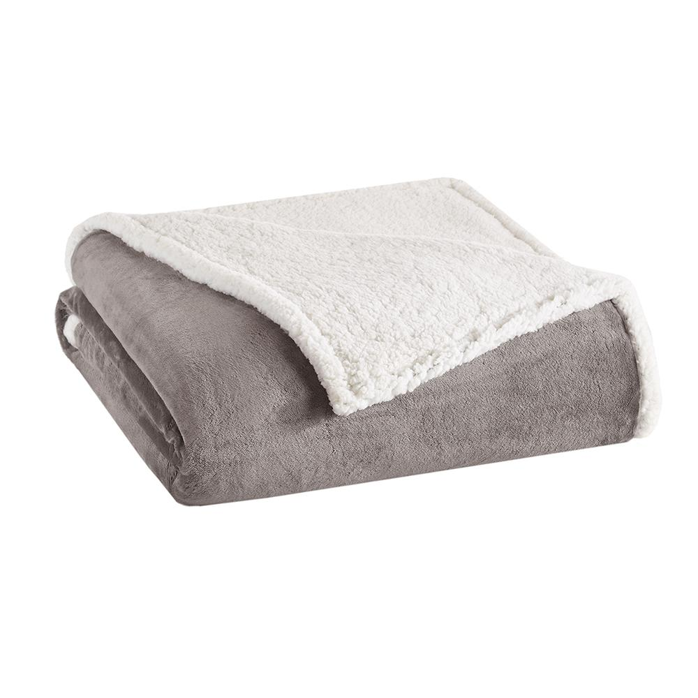 """100% Polyester Solid Microlight Blanket w/ 1"""" Micro Berber Hem,BL51-0904. Picture 1"""