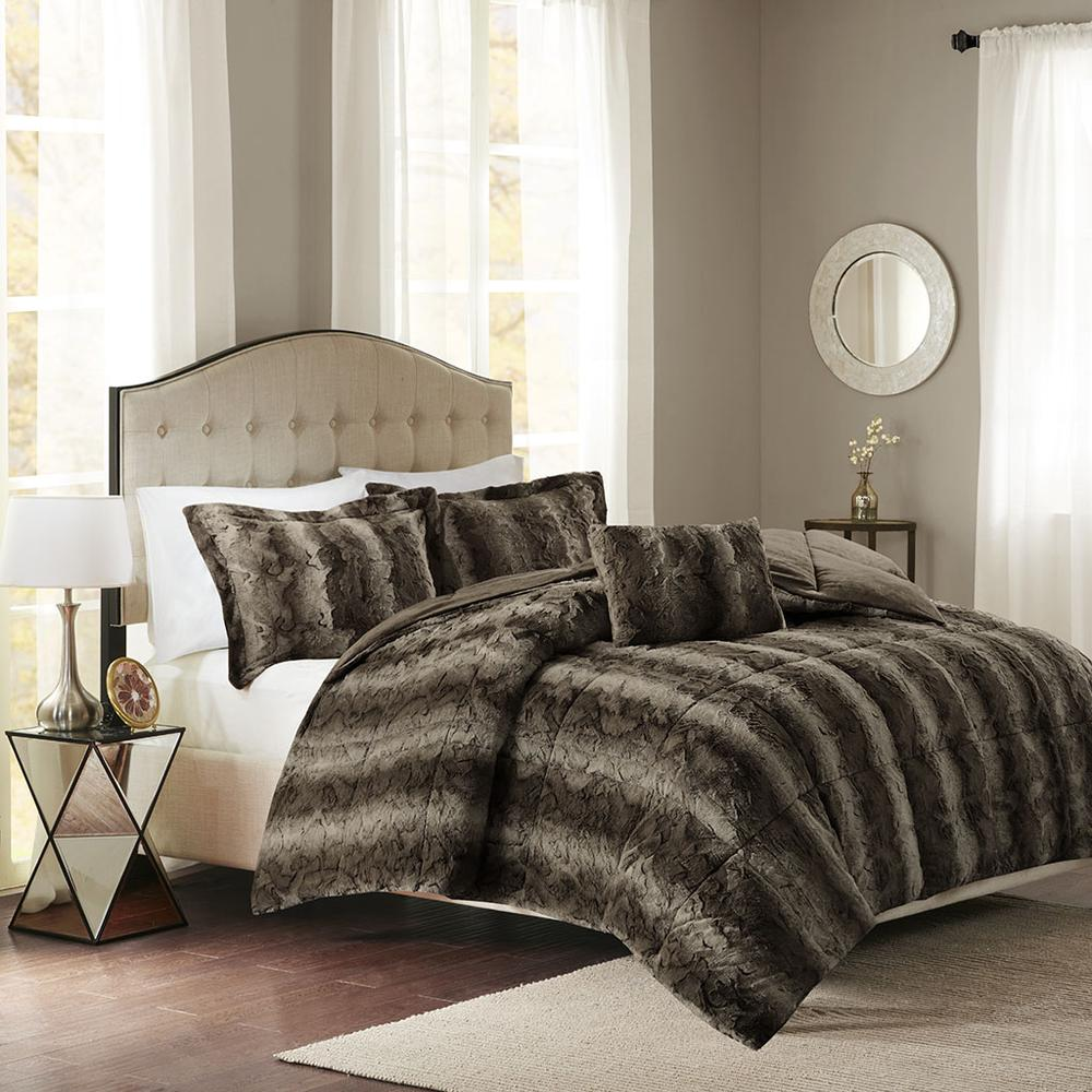 100% Polyester Print Brushed Faux Fur Comforter Set,MP10-3074. Picture 2
