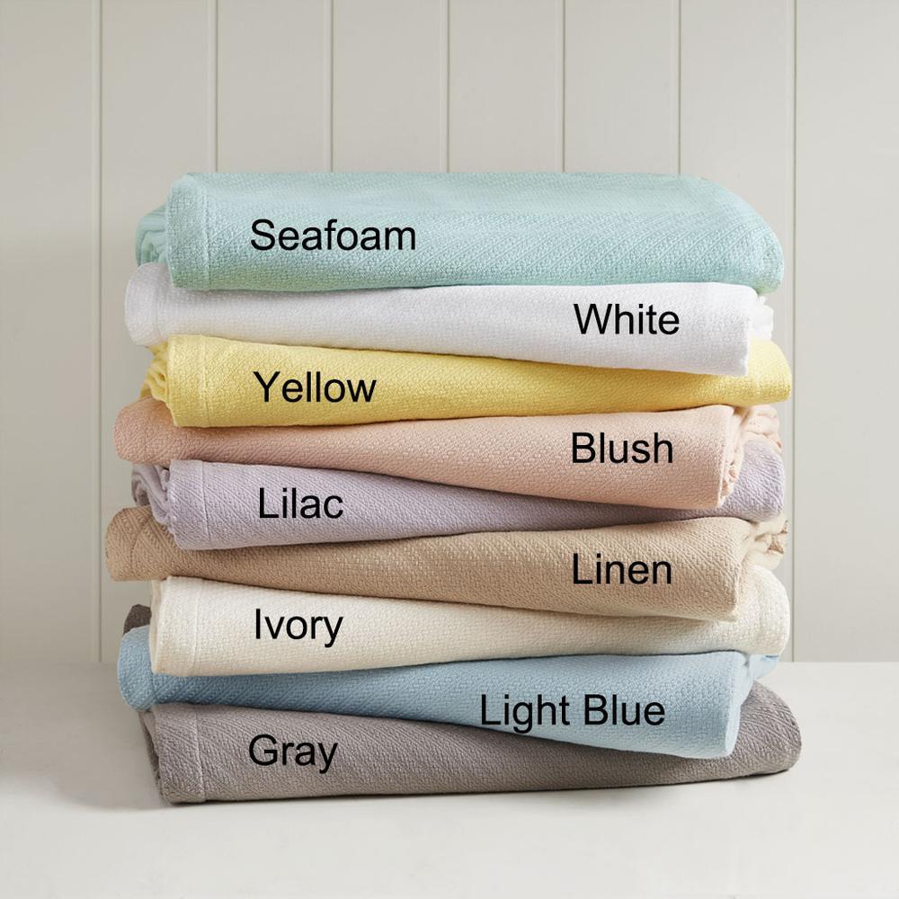 "100% Cotton Blanket w/ 1"" Self Hem,BL51N-0679. Picture 6"
