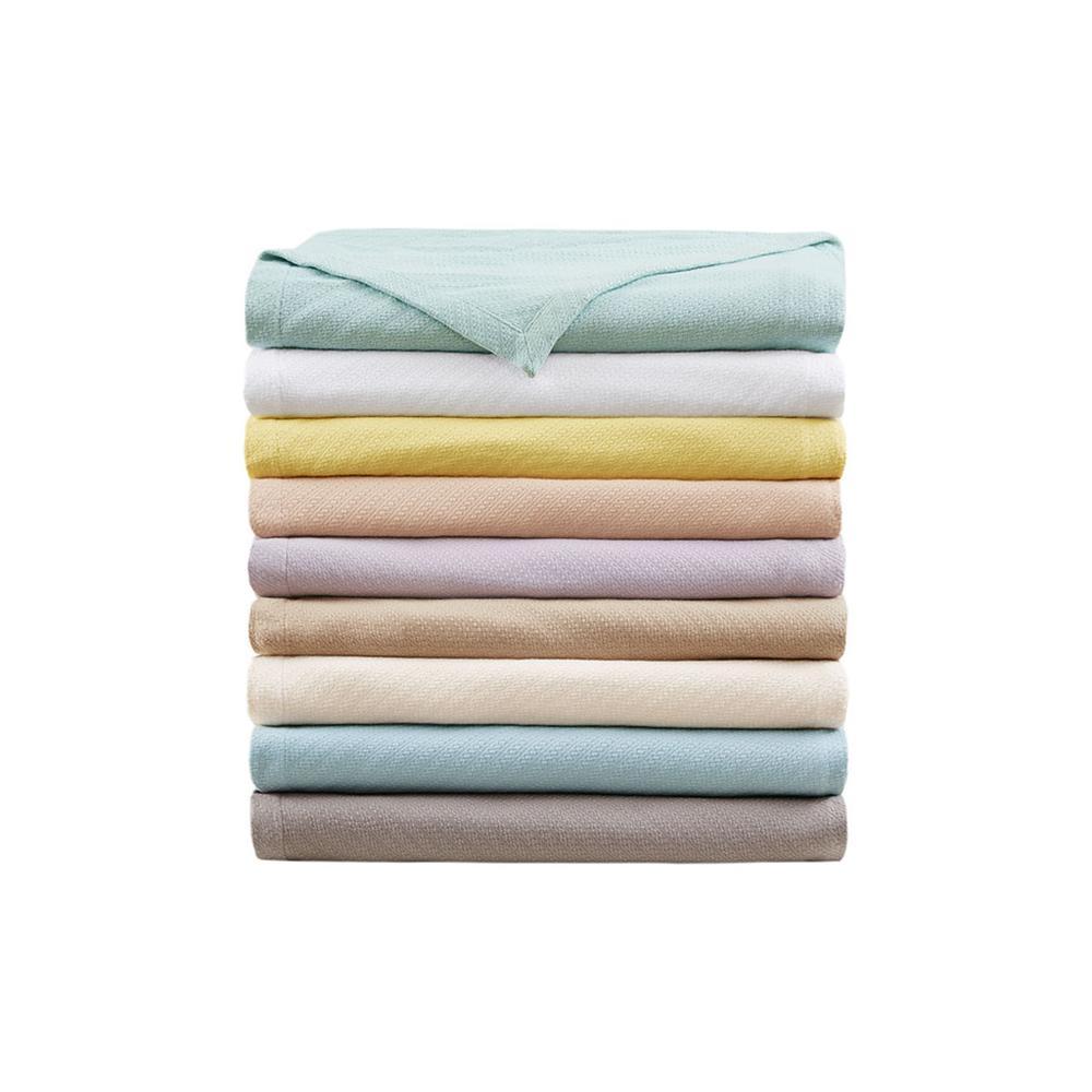 "100% Cotton Blanket w/ 1"" Self Hem,BL51N-0679. Picture 7"