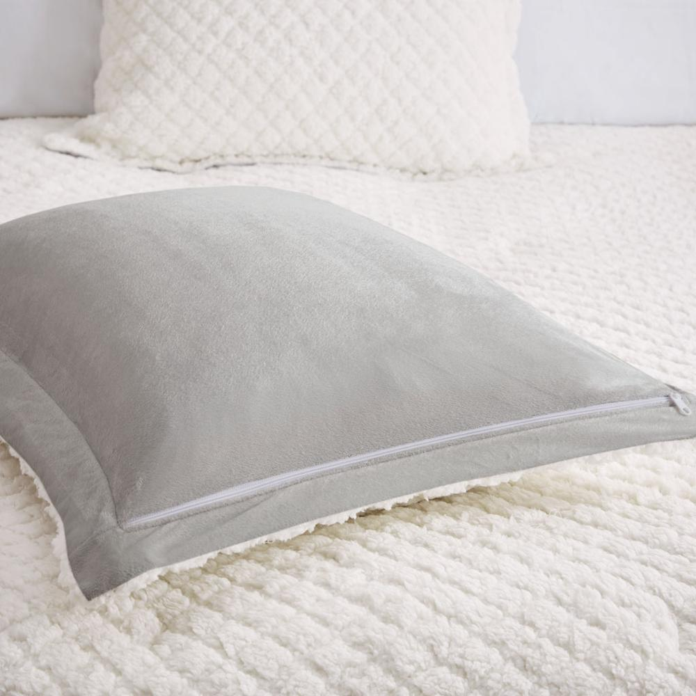 100% Polyester Pinsonic Sherpa Comforter Set,MP10-6627. Picture 11