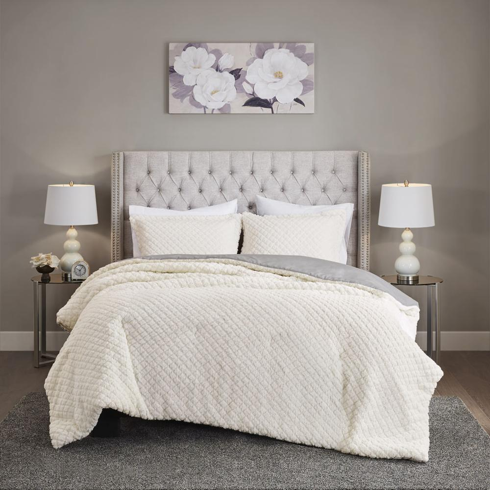 100% Polyester Pinsonic Sherpa Comforter Set,MP10-6627. Picture 1