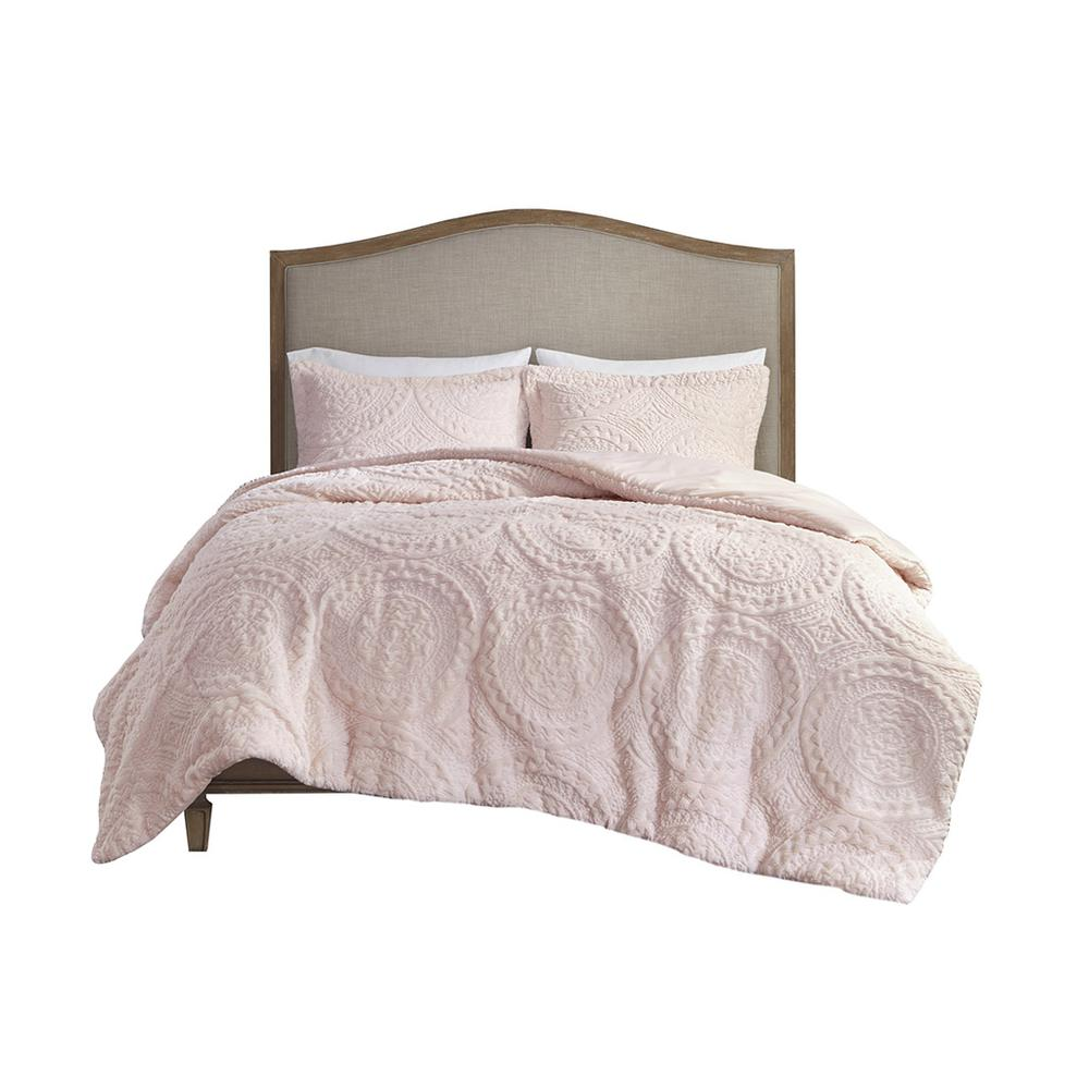 100% Polyester Embroidered Medallion Long Fur to Mink Comforter Set,MP10-5062. Picture 17