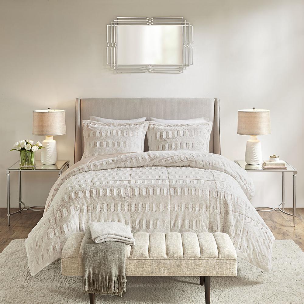 100% Polyester Back Print Long Fur Comforter Set,MP10-6210. Picture 1