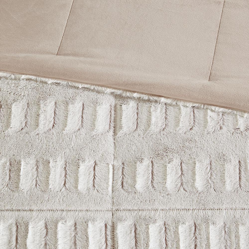 100% Polyester Back Print Long Fur Comforter Set,MP10-6210. Picture 5