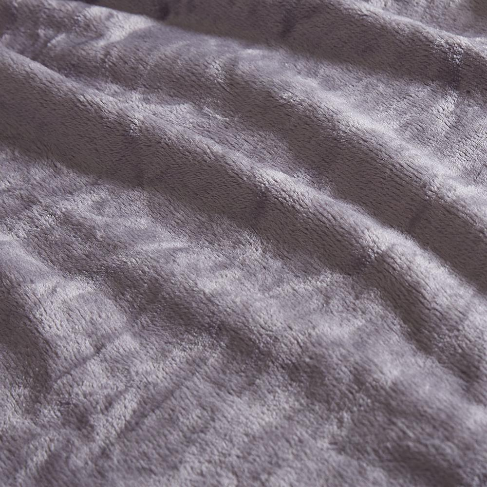 "100% Polyester Microlight Blanket W/ 1"" Self Hem,BL51-0623. Picture 6"