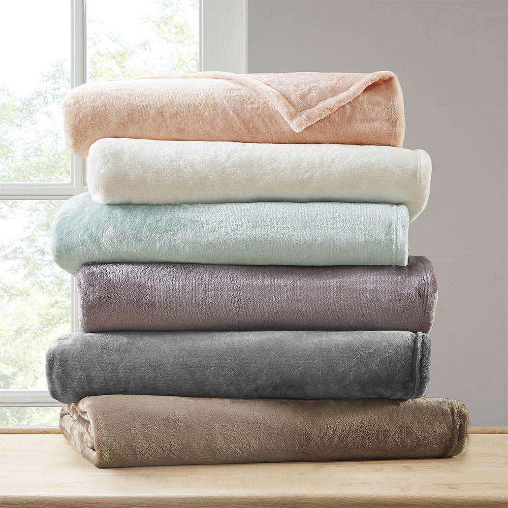"100% Polyester Microlight Blanket W/ 1"" Self Hem,BL51-0623. Picture 7"