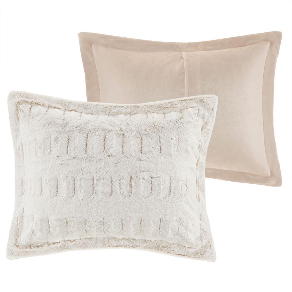100% Polyester Back Print Long Fur Comforter Set,MP10-6210. Picture 18