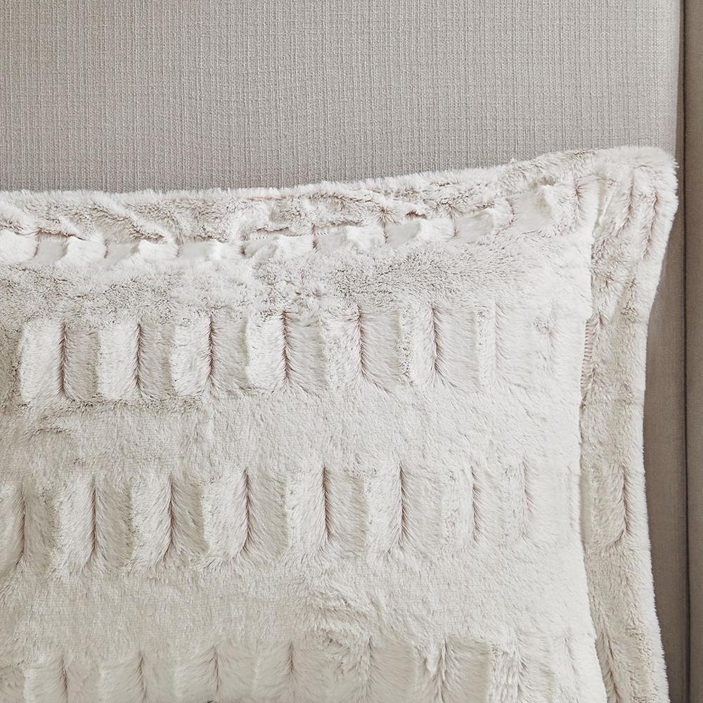 100% Polyester Back Print Long Fur Comforter Set,MP10-6210. Picture 12