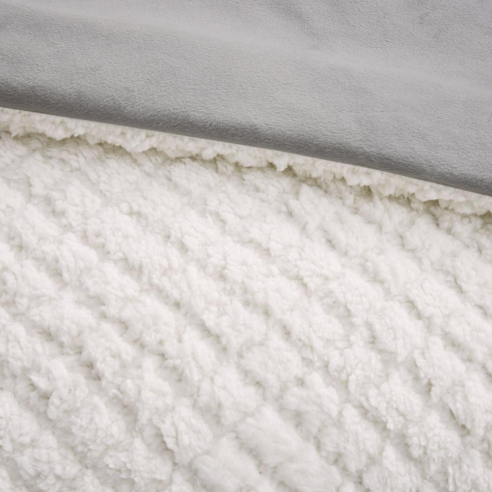 100% Polyester Pinsonic Sherpa Comforter Set,MP10-6627. Picture 9