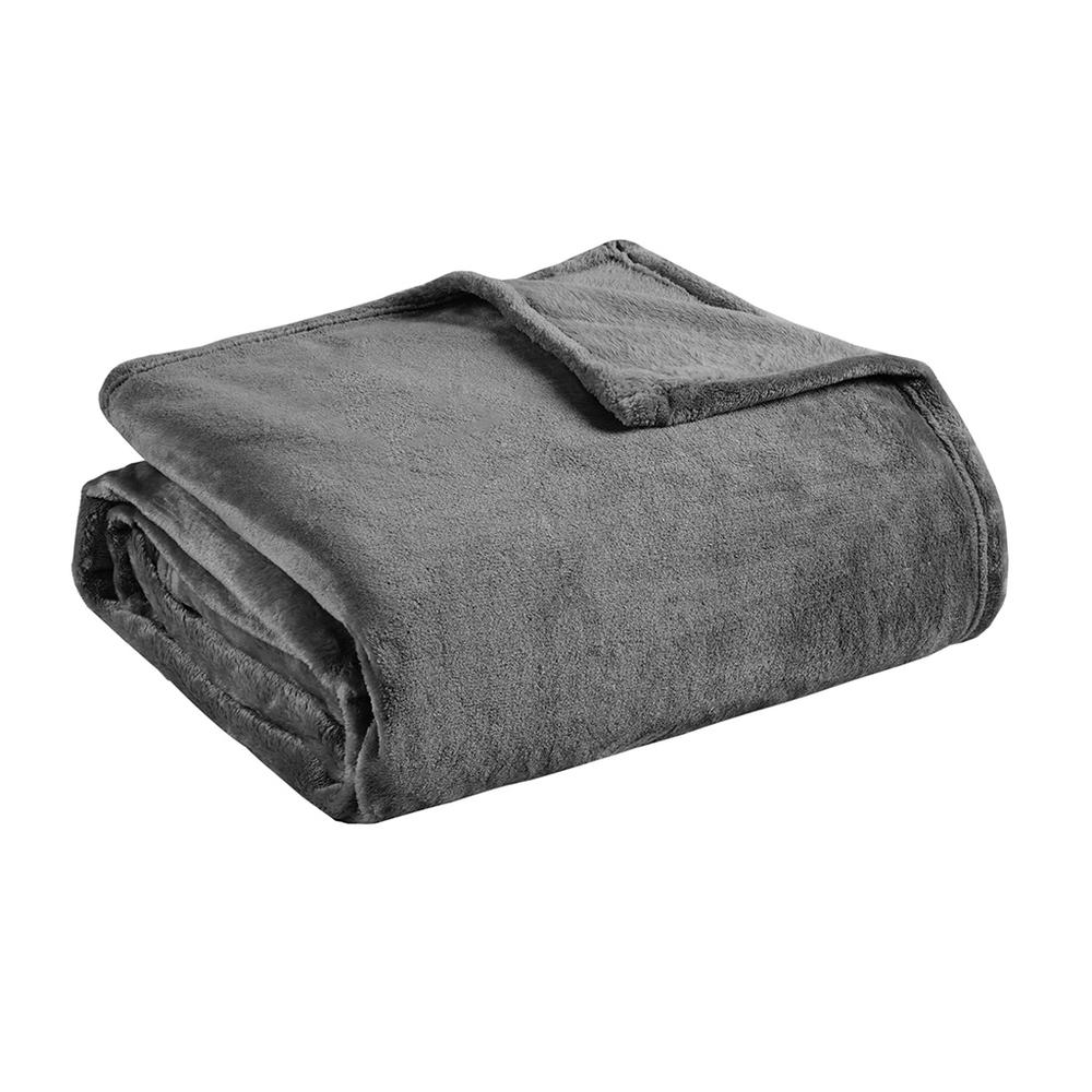 """100% Polyester Solid Brushed Blanket W/ 1"""" Self Hem,MP51-1711. Picture 6"""