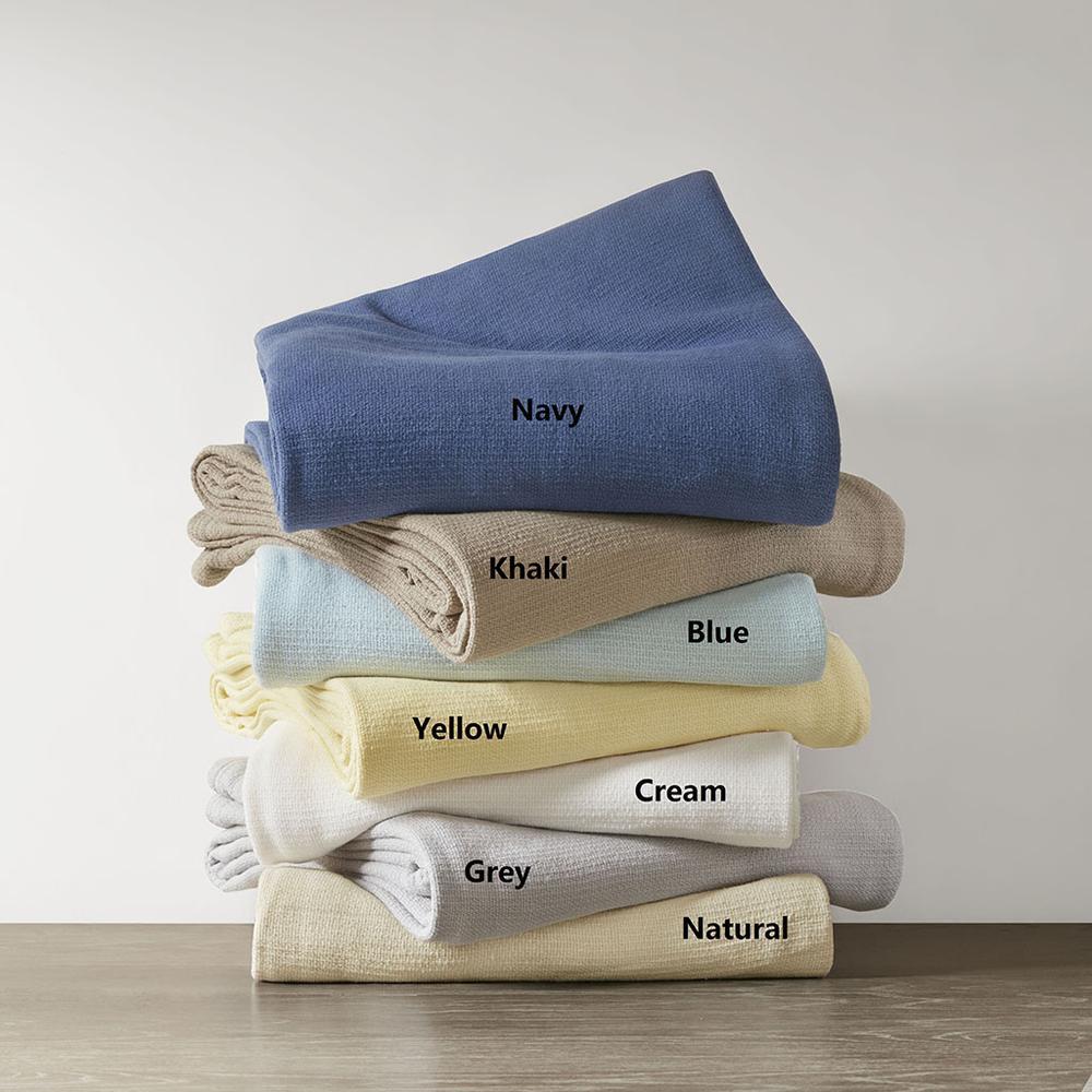 """100% Cotton Freshspun Basketweave Blanket w/ 1"""" Self Hem,BL51N-0866. Picture 10"""
