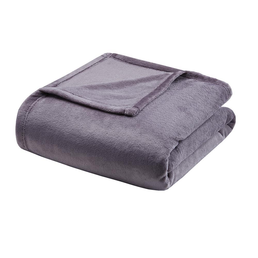 "100% Polyester Microlight Blanket W/ 1"" Self Hem,BL51-0623. Picture 13"