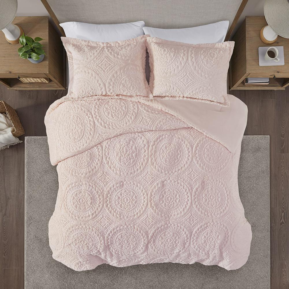 100% Polyester Embroidered Medallion Long Fur to Mink Comforter Set,MP10-5061. Picture 7