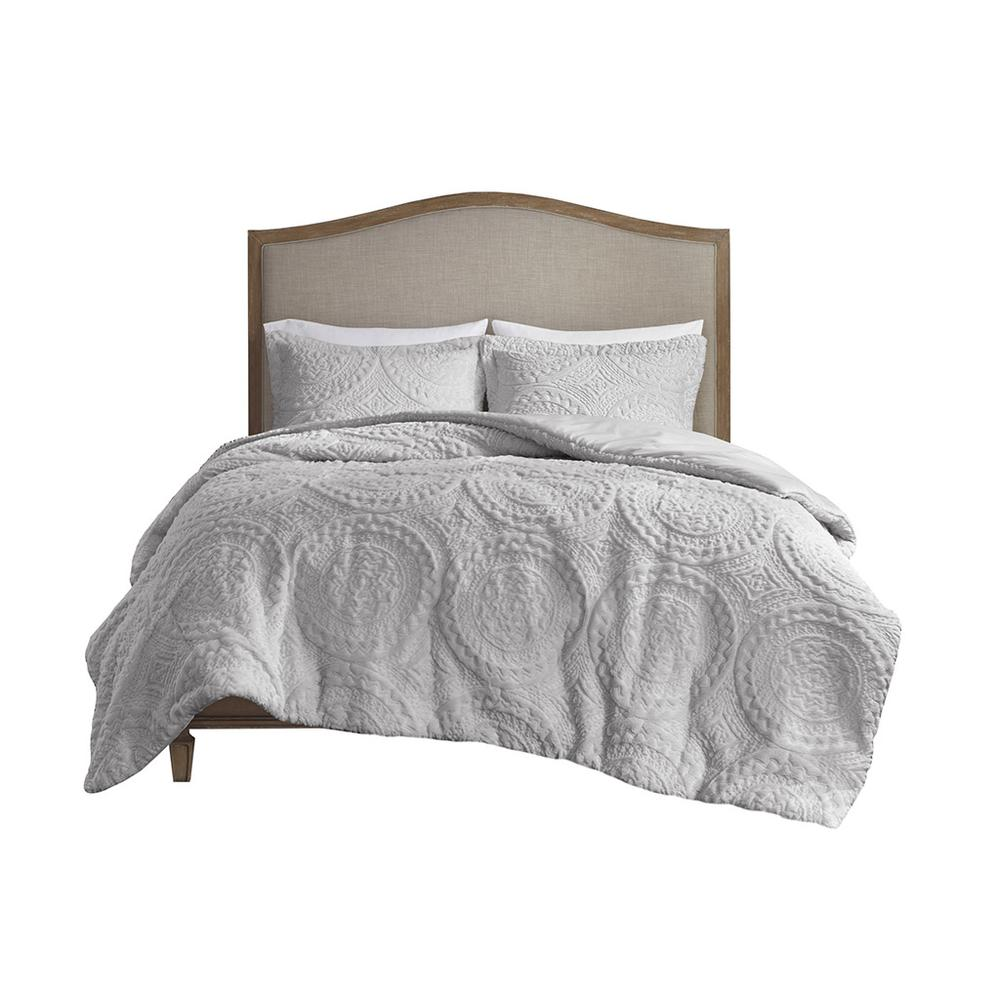 100% Polyester Embroidered Medallion Long Fur to Mink Comforter Set,MP10-6012. Picture 17