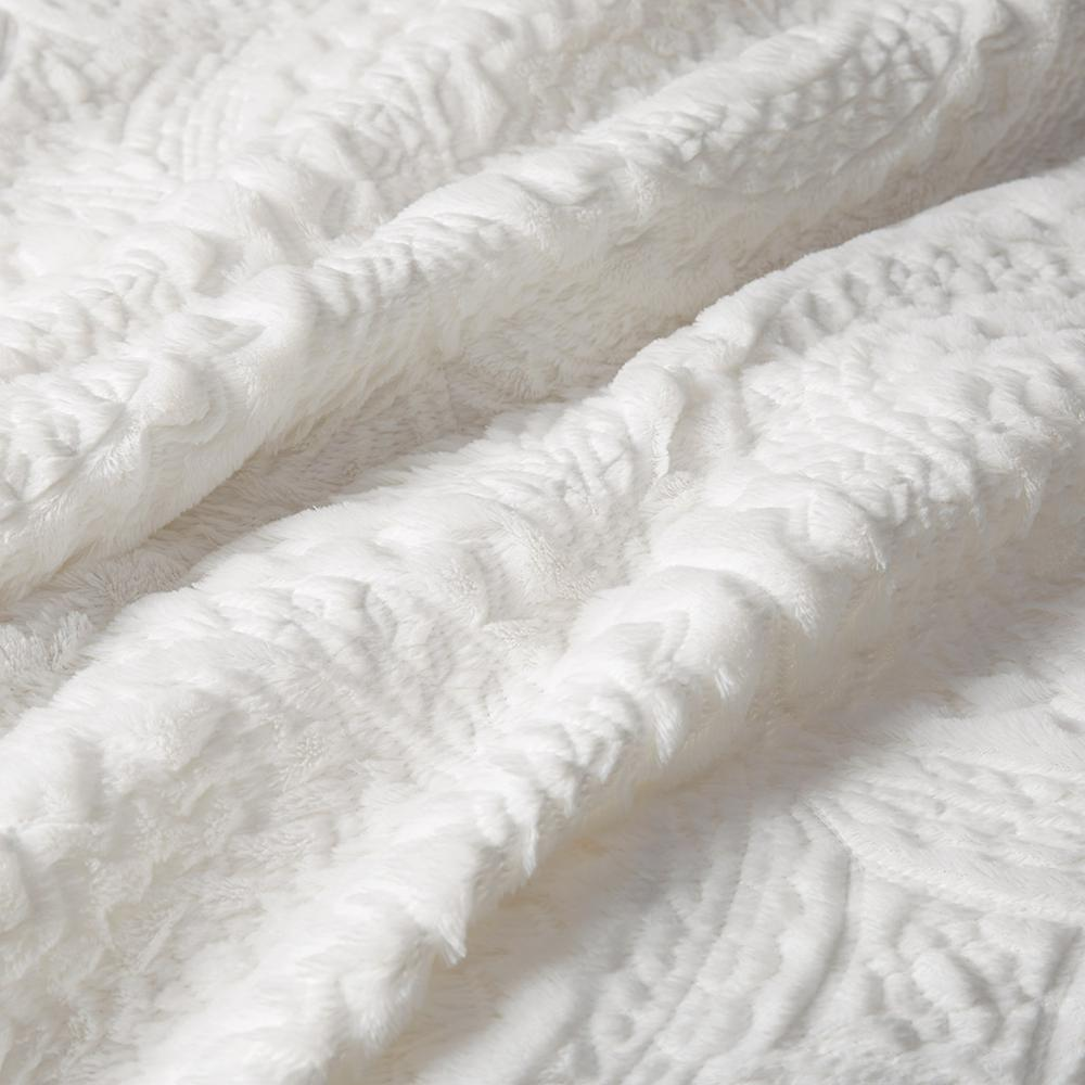 100% Polyester Embroidered Medallion Long Fur to Mink Comforter Set,MP10-5057. Picture 11