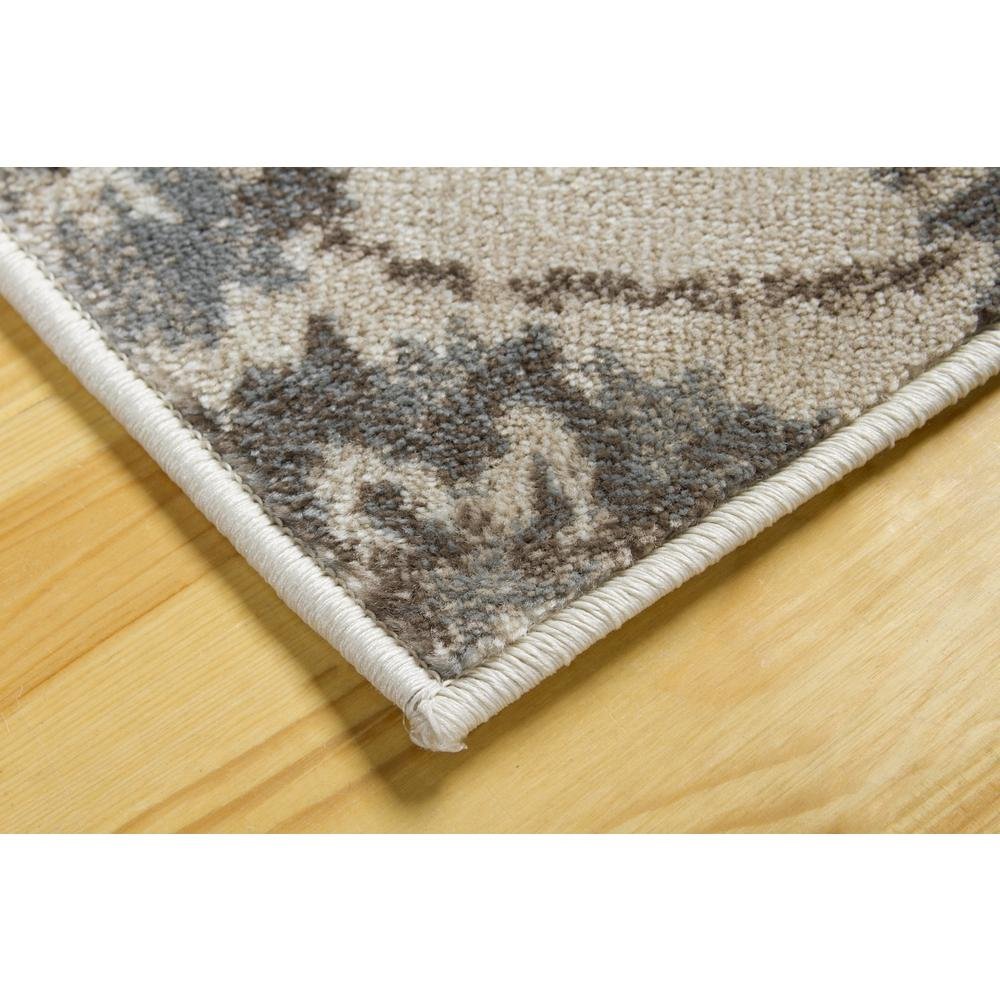 L'Baiet Emery Grey Floral 2' x 6' Rug. Picture 4