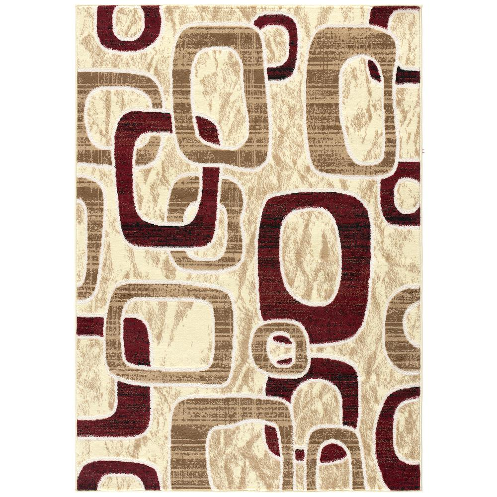 L'Baiet Harlow Brown Geometric 8' x 10' Rug. Picture 1