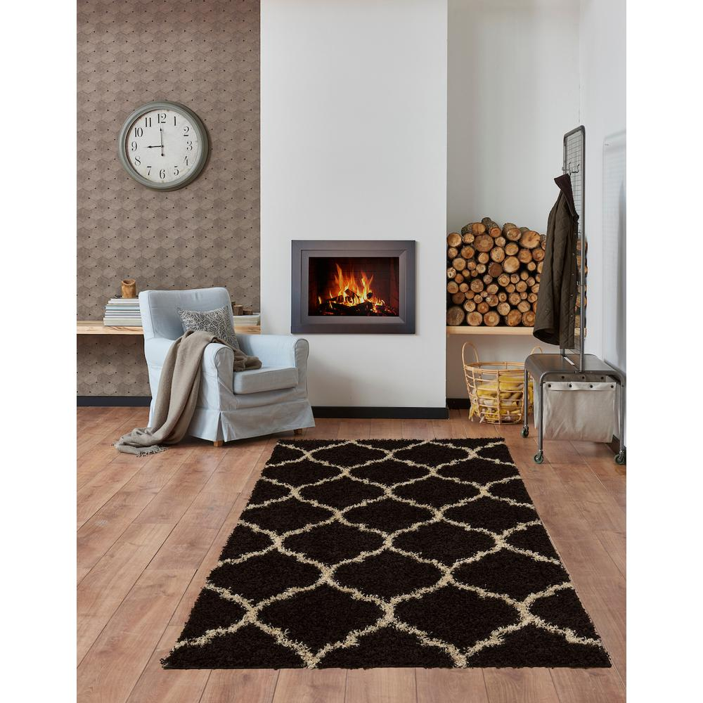 L'Baiet Anabelle Brown Shag 2' x 3' Rug. Picture 1