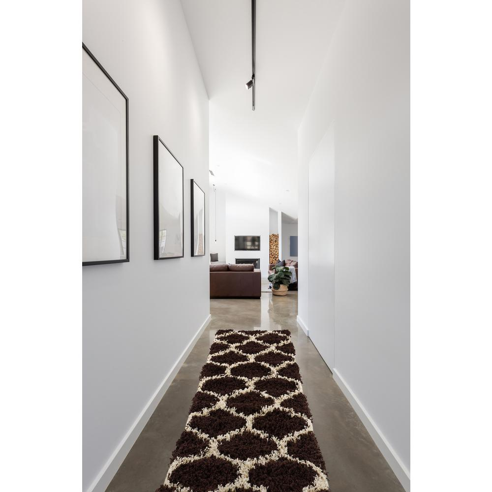 L'Baiet Anabelle Brown Shag 2' x 3' Rug. Picture 2