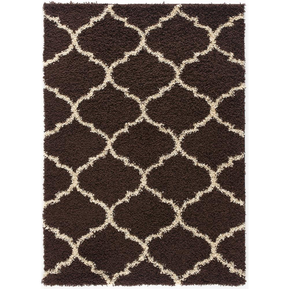L'Baiet Anabelle Brown Shag 2' x 3' Rug. Picture 3