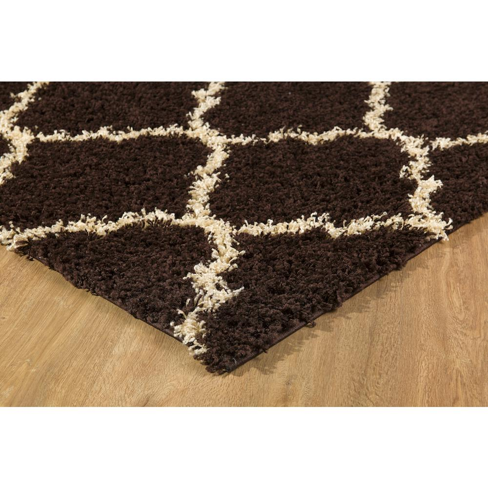 L'Baiet Anabelle Brown Shag 2' x 3' Rug. Picture 5