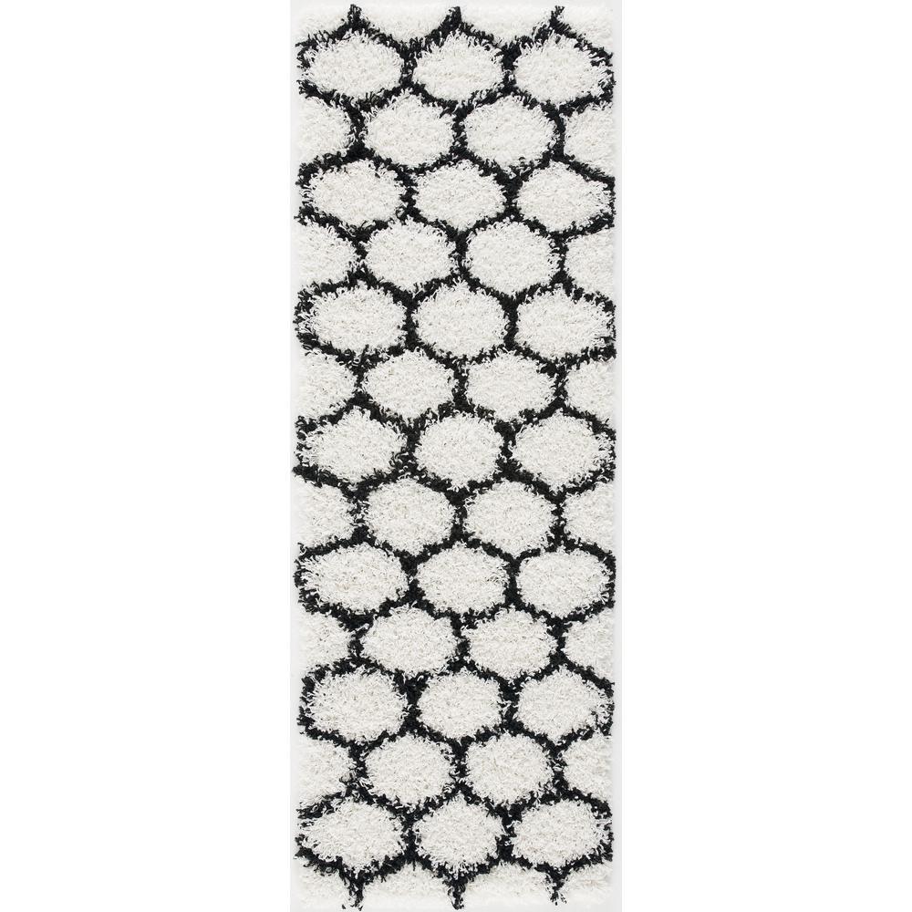 L'Baiet Desiree White Shag 2' x 6' Rug. Picture 2