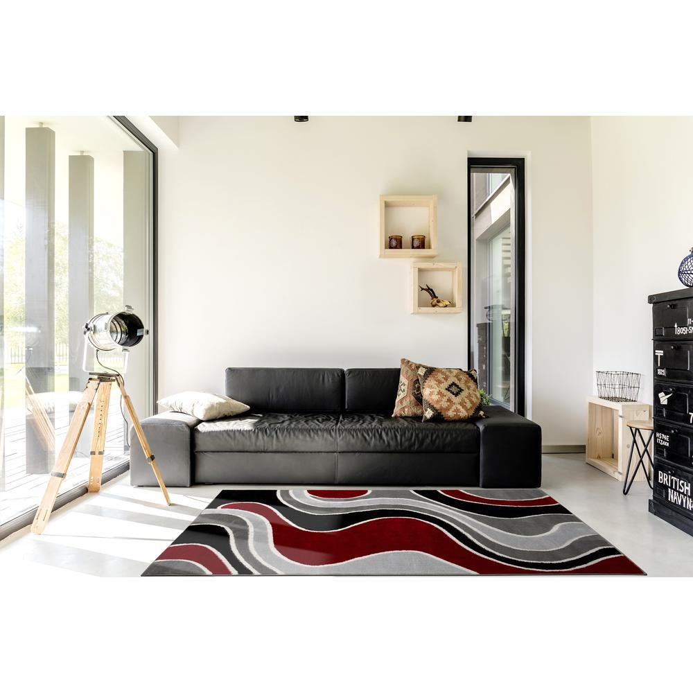 L'Baiet Sian Multicolor Graphic 2' x 3' Rug. Picture 1
