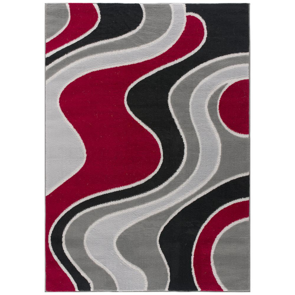 L'Baiet Sian Multicolor Graphic 2' x 3' Rug. Picture 3