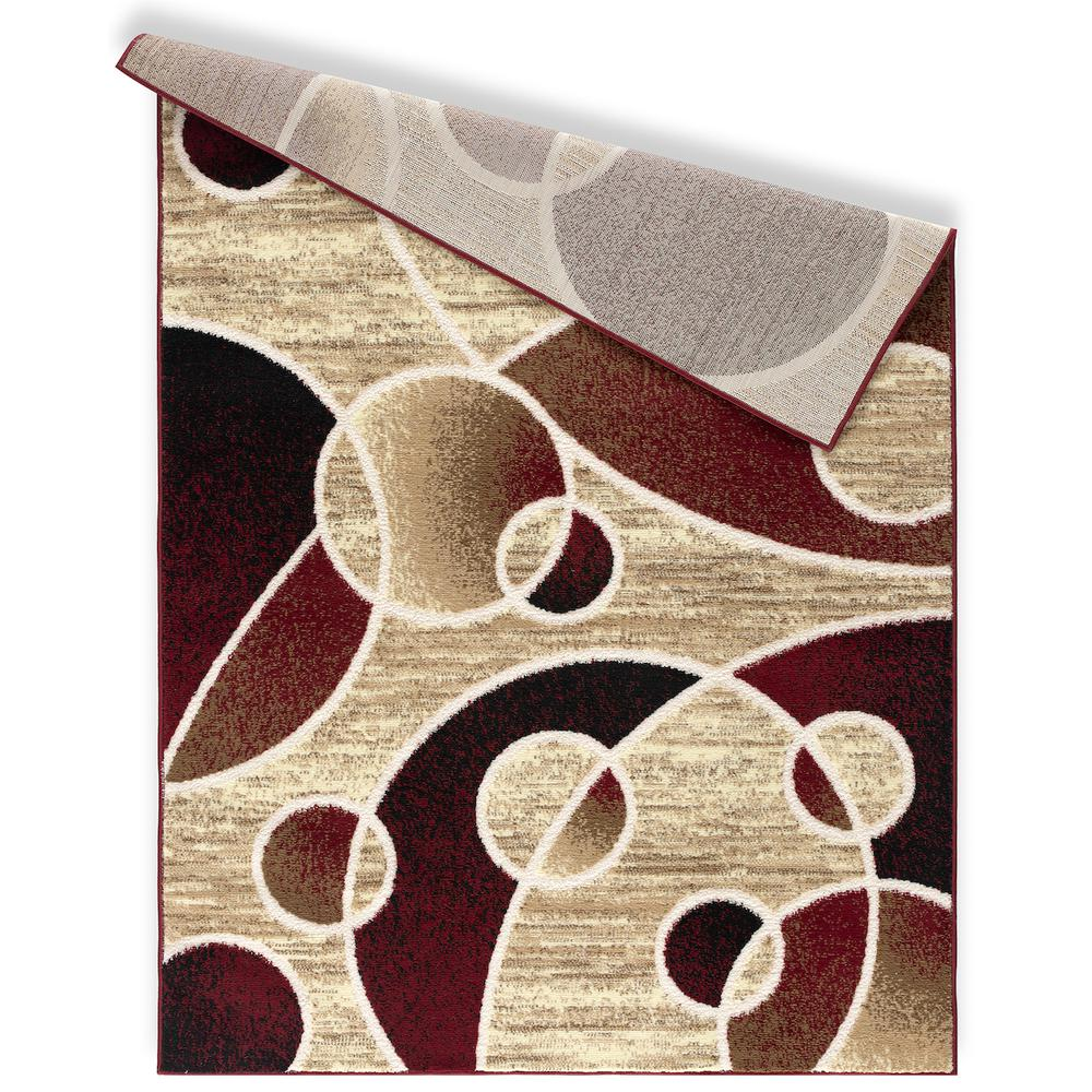 L'Baiet Andromeda Multicolor Geometric 2' x 3' Rug. Picture 4