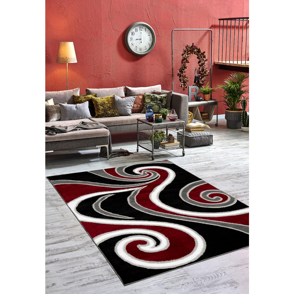 L'Baiet Oaklee Multicolor Graphic 2' x 3' Rug. Picture 1