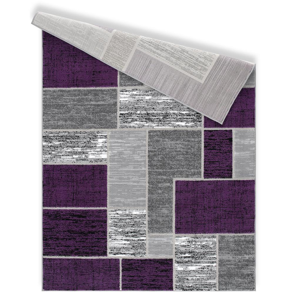 L'Baiet Verena Purple Geometric 2' x 3' Rug. Picture 4